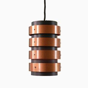 Lampe à Suspension Noire et Cuivre dans le Style de Jo Hammerborg pour Fog & Mørup, Danemark