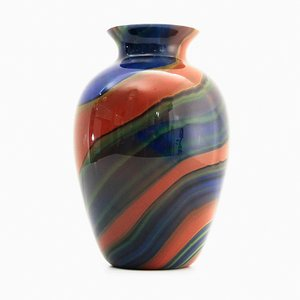Murano Glass Mercury Vase by Ottavio Missoni for Missoni, 1980s