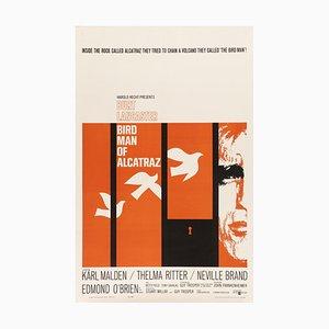 Vintage Birdman of Alcatraz Poster, 1962