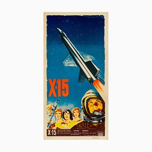 Vintage X-15 Poster by Roger Soubie, 1961