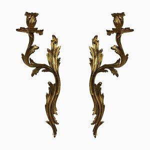 Antique Bronze Sconces, Set of 2