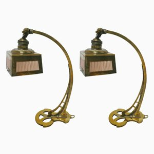 Art Nouveau Table or Wall Lamps, 1920s, Set of 2