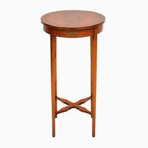 Antique Edwardian Painted Satinwood Side Table