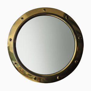 Vintage Convex Nautical Mirror from Linton