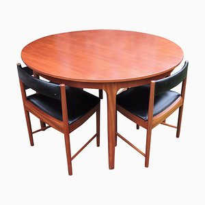 Mid-Century Dining Table & Chairs Set from McIntosh, Set of 5