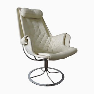 White Jetson Lounge Chair by Bruno Mathsson for Dux, 1970s