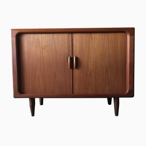 Danish Teak Sideboard with Sliding Doors, 1960s