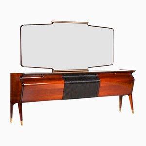 Bufet de palisandro con espejo de Osvaldo Borsani para Arredamento Borsani, años 50