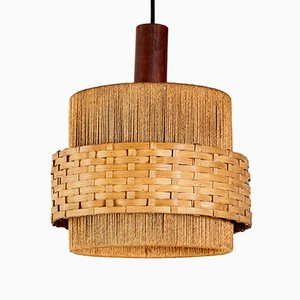 Wicker Pendant Lamp, 1970s