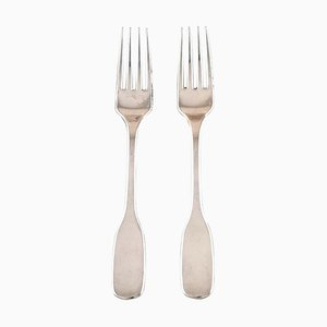 Susanne Dinner Fork in Sterling Silver by Hans Hansen, 20th Century, Set of 2