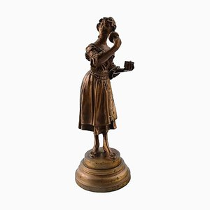 French Bronze Figure of Pernille Sculpture by Adolphe Rivet, 1900s