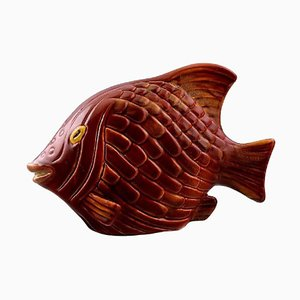 Vintage Stoneware Fish Figure by Gunnar Nylund for Rörstrand