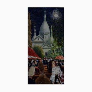 View of Montmartre Paris by Anni Løgstrup, 1963
