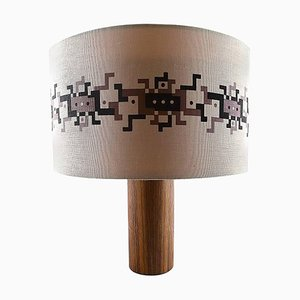 Scandinavian Rosewood Table Lamp by Uno & Osten Kristiansson for Luxus, 1960s