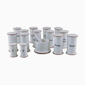 Spice Set from Bing & Grondahl, 20th Century, Set of 12