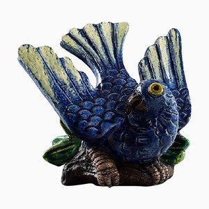 Vintage Steingut Vogelfigur von Gunnar Nylund für Rörstrand