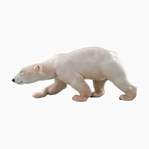 Figure of Large Walking Polar Bear No. 425 from Royal Copenhagen, Early 20th Century