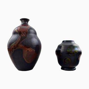 Vases by Åke Holm, 1940s, Set of 2