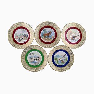 German Decoration Plates by Thomas for Bavaria, 1930s, Set of 5