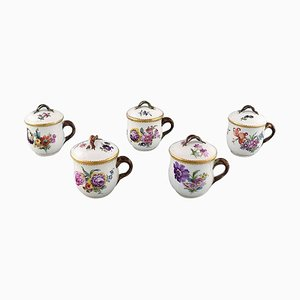 Porcelain Cream Cups from Royal Copenhagen, Early 20th Century, Set of 5