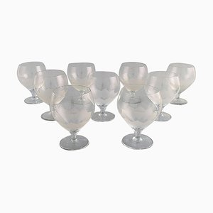 Lotus Glasses by Bjorn Wiinblad for Rosenthal, 1980s, Set of 9