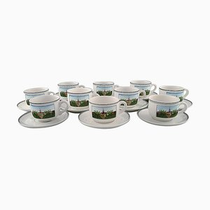 Coffee Service in Porcelain from Villeroy & Boch, 20th Century, Set of 20