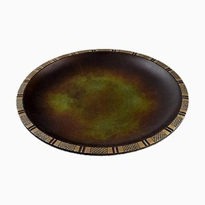 Danish Art Deco Bronze Bowl or Dish by Just Andersen, 1930s