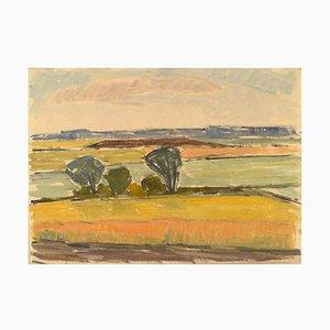 Swedish Modernist Landscape by Arne Brodin, 1960s