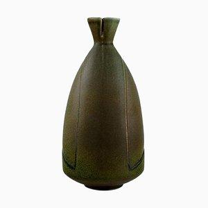 Löva Vase in Glazed Ceramic by Gabi Citron-Tengborg for Gustavsberg, 1960s
