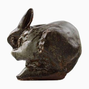 Saxbo Rabbit in Stoneware by Hugo Liisberg, 1940s