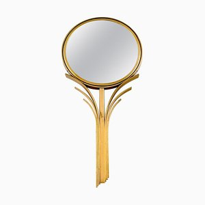 Swedish Art Deco Hand Mirror in Bronze from Ystad Metall, 1930s