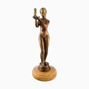 Grande Femme Nu en Bronze avec Enfant, 20ème Siècle