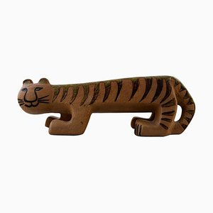 Large Tiger or Cat in Ceramic by Lisa Larson for Gustavsberg, 1960s