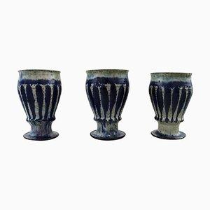Ceramic Cups by Gutte Eriksen, 20th Century, Set of 3