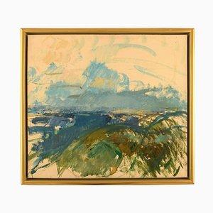 Modernist Landscape Oil on Canvas by Jens Chr. Jacobsen, 1966