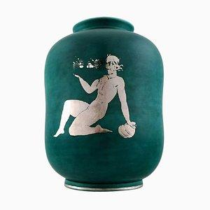 Art Deco Argenta Ceramic Vase by Wilhelm Kage for Gustavsberg, 1940s