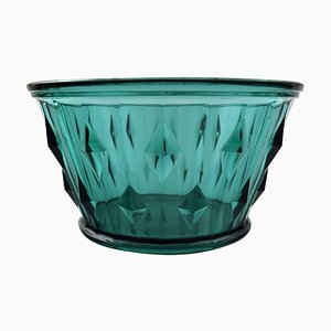 Art Deco Art Glass in Green by Simon Gate for Orrefors, 1930s