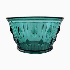 Bicchiere Art Déco verde di Simon Gate per Orrefors, anni '30