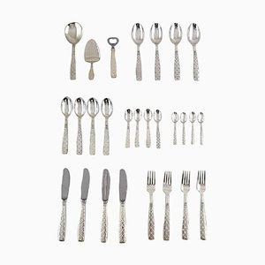 Danish Silver Plated Cutlery by Jens Quistgaard, Mid-20th Century, Set of 27