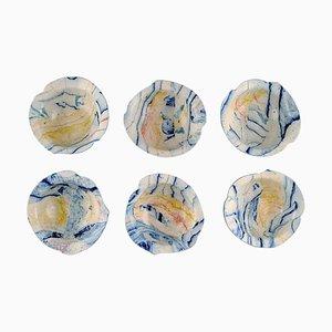 Swedish Bowls by Cilla Adlercreutz, 1980s, Set of 6