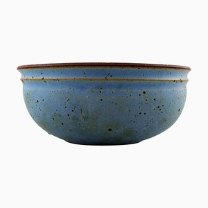 Large Bowl of Glazed Stoneware by Helle Alpass, 1960s
