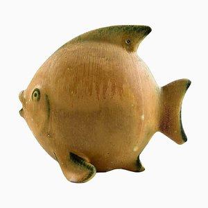 Steingut Fischfigur von Gunnar Nylund von Rörstrand, 20. Jahrhundert
