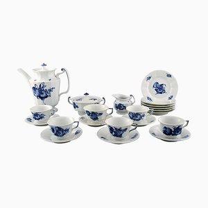 Blue Flower Angular Coffee Service from Royal Copenhagen, 20th Century, Set of 21