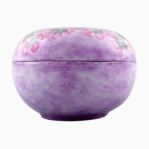 Hand-Painted with Pink Flowers Lidded Jar or Jewelry Box from Rosenthal