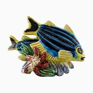 Steingut Fischfigur von Gunnar Nylund für Rörstrand, 1950er
