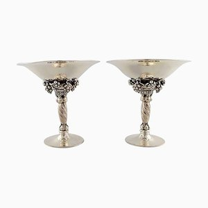 Sterling Silver Grape Bowls from Georg Jensen, 1940s, Set of 2
