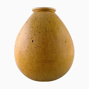 Colossal Drop-Shaped Floor Vase with Vertical Grooves from Saxbo, 20th Century