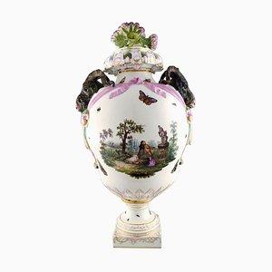 Antique Monumental Lidded Vase in Porcelain from KPM, 1780s