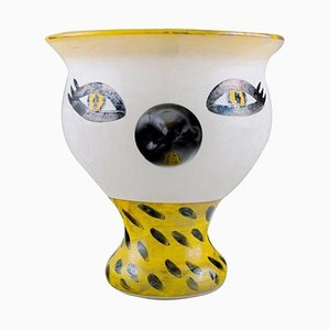 Vase with in Mouth Blown Art Glass by Ulrica Hydman Vallien for Kosta Boda, 1980s