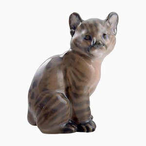 Model 4783 Young Puma Figurine from Royal Copenhagen, 1960s